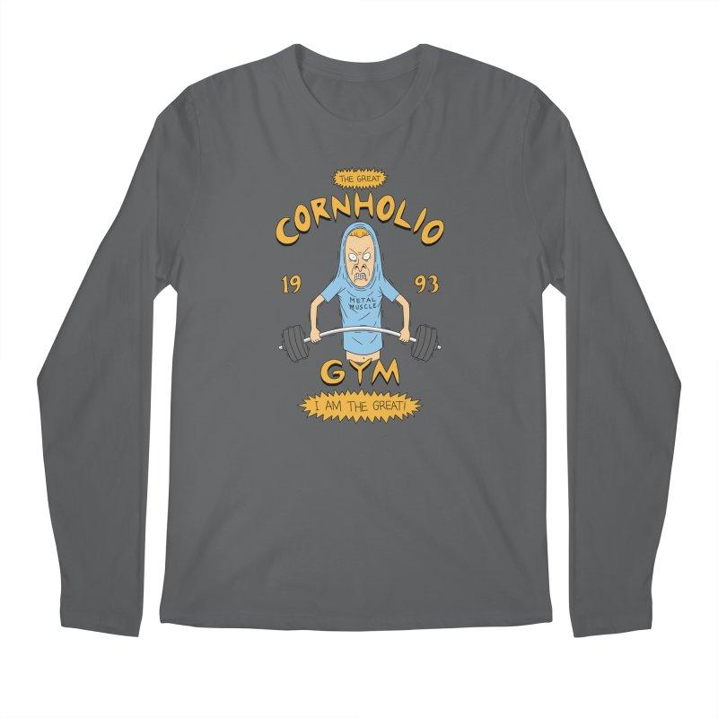 Great Cornholio's Gym Men's Longsleeve T-Shirt by Pigboom's Artist Shop
