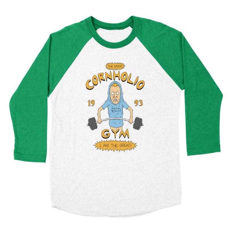 Great Cornholio's Gym Men's Baseball Triblend T-Shirt by Pigboom's Artist Shop