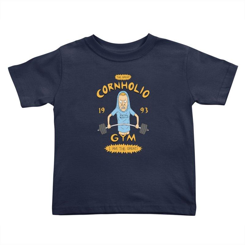 Great Cornholio's Gym Kids Toddler T-Shirt by Pigboom's Artist Shop