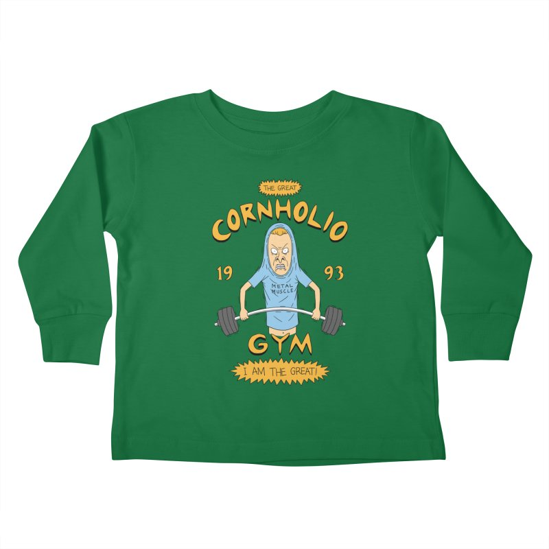 Great Cornholio's Gym Kids Toddler Longsleeve T-Shirt by Pigboom's Artist Shop