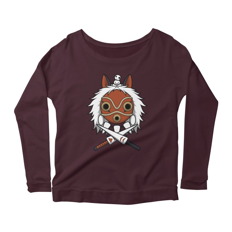 Forest Protector Women's Longsleeve Scoopneck  by Pigboom's Artist Shop
