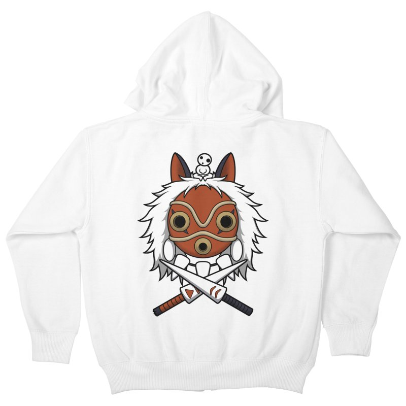 Forest Protector Kids Zip-Up Hoody by Pigboom's Artist Shop