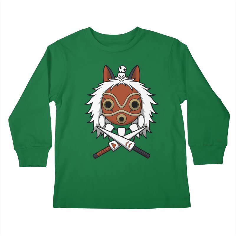 Forest Protector Kids Longsleeve T-Shirt by Pigboom's Artist Shop