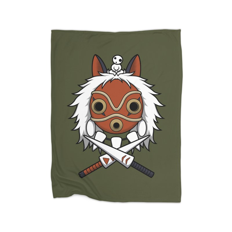 Forest Protector Home Fleece Blanket by Pigboom's Artist Shop