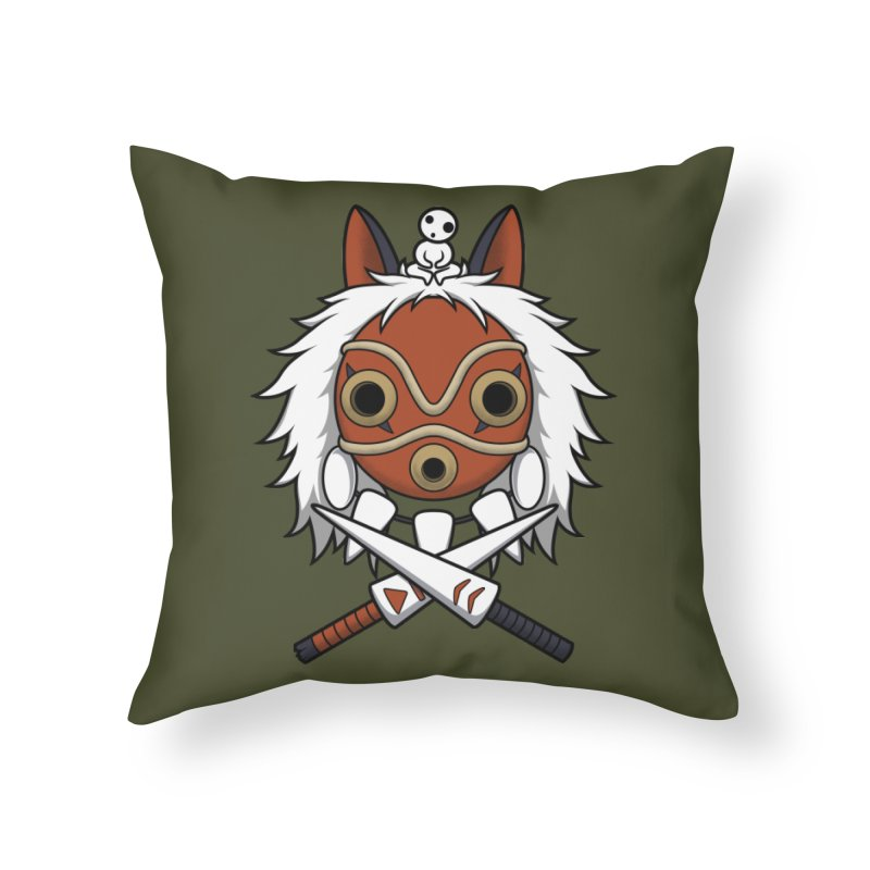 Forest Protector Home Throw Pillow by Pigboom's Artist Shop
