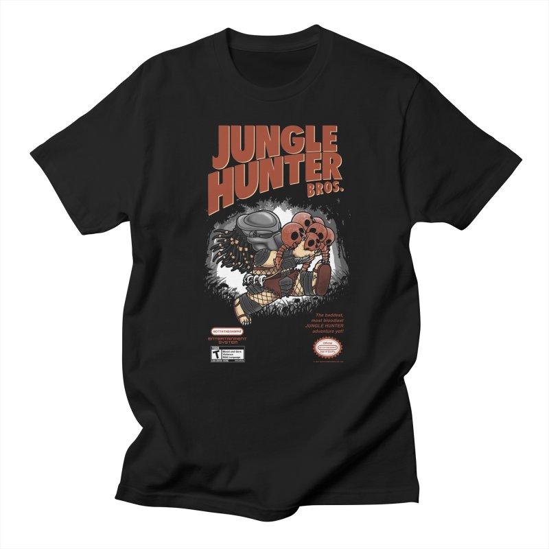 Super Jungle Hunter Bros. Men's T-shirt by Pigboom's Artist Shop