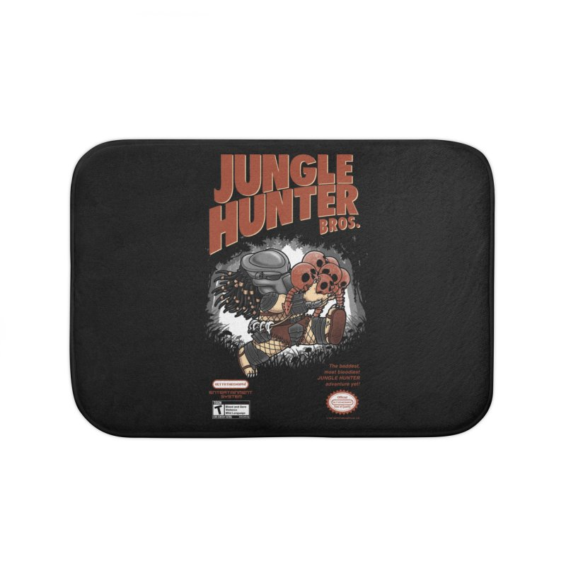 Super Jungle Hunter Bros. Home Bath Mat by Pigboom's Artist Shop