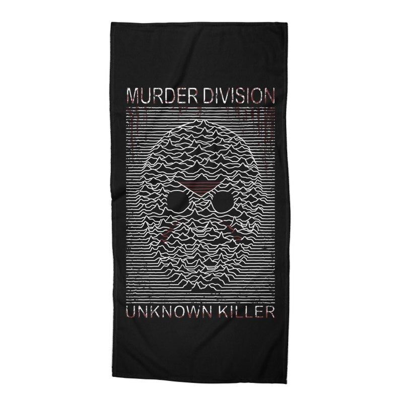Murder Division Accessories Beach Towel by Pigboom's Artist Shop