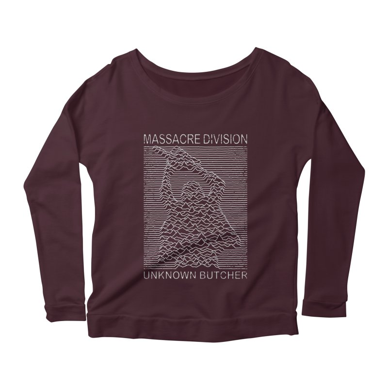 Massacre Division Women's Longsleeve Scoopneck  by Pigboom's Artist Shop