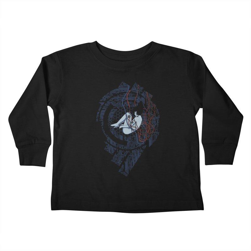 Wired Existence Kids Toddler Longsleeve T-Shirt by Pigboom's Artist Shop