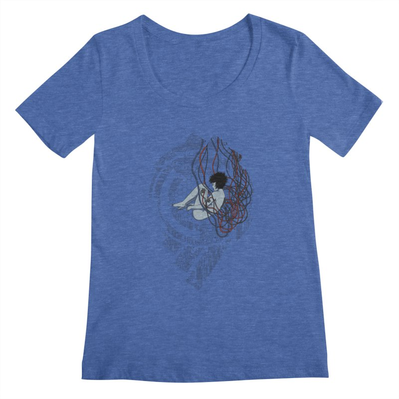 Wired Existence Women's Scoopneck by Pigboom's Artist Shop