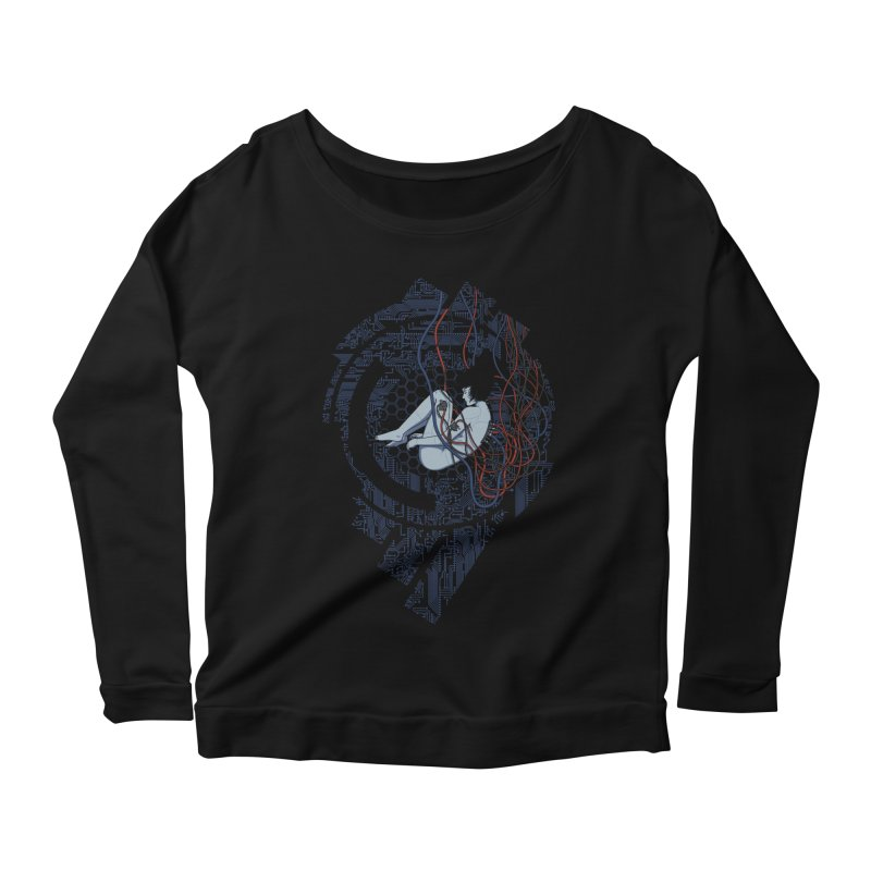 Wired Existence Women's Longsleeve Scoopneck  by Pigboom's Artist Shop