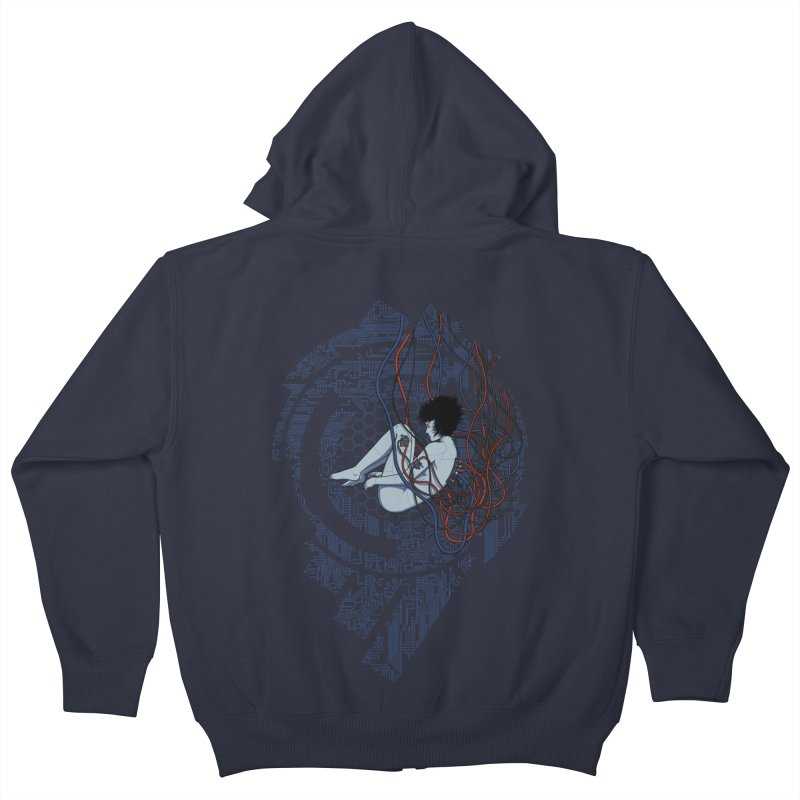 Wired Existence Kids Zip-Up Hoody by Pigboom's Artist Shop