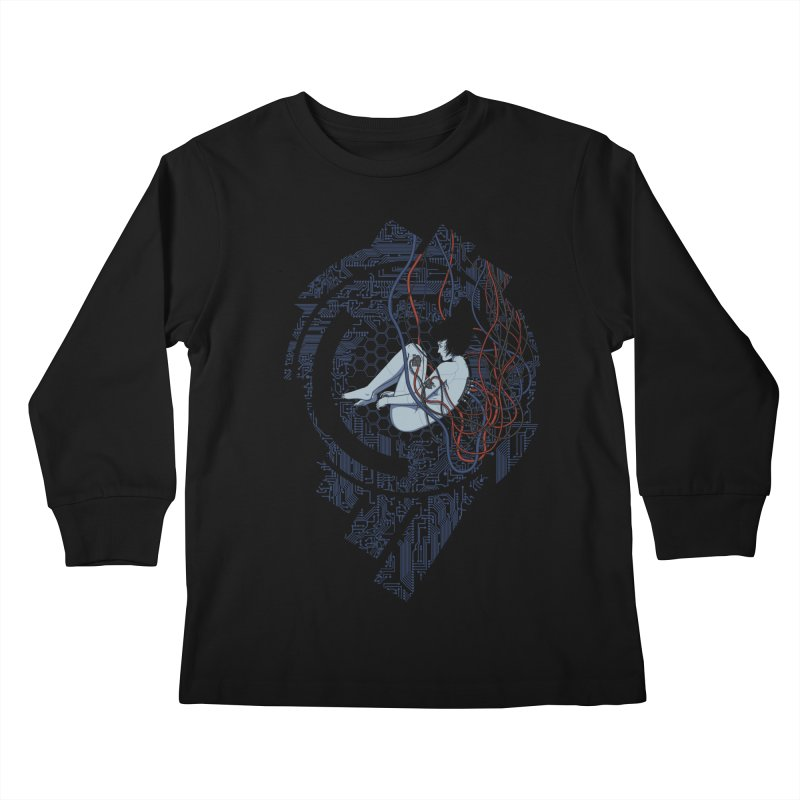 Wired Existence Kids Longsleeve T-Shirt by Pigboom's Artist Shop