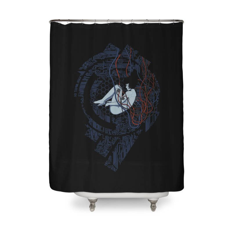 Wired Existence Home Shower Curtain by Pigboom's Artist Shop