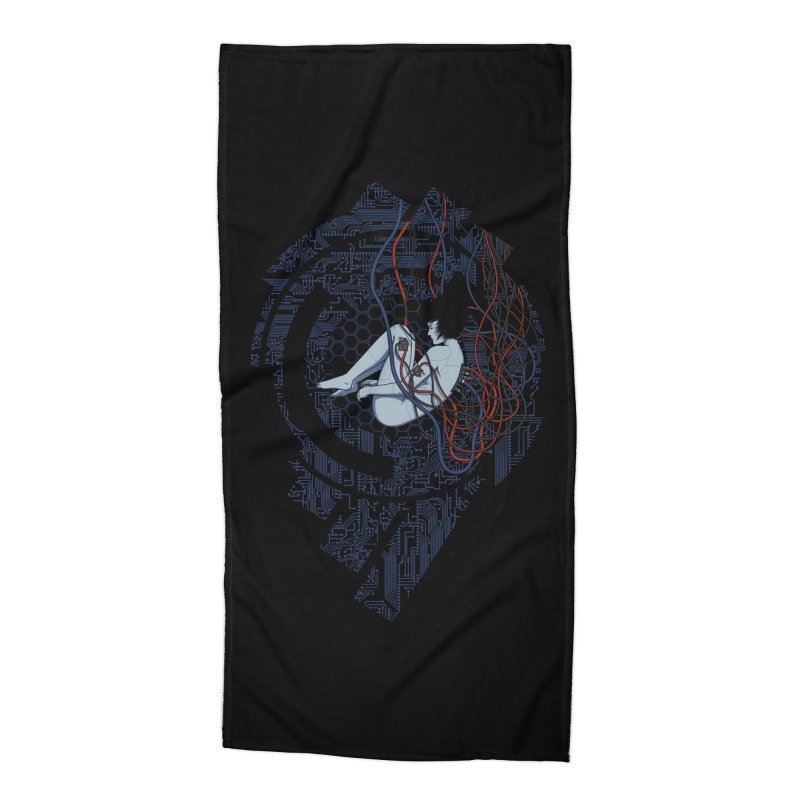 Wired Existence Accessories Beach Towel by Pigboom's Artist Shop
