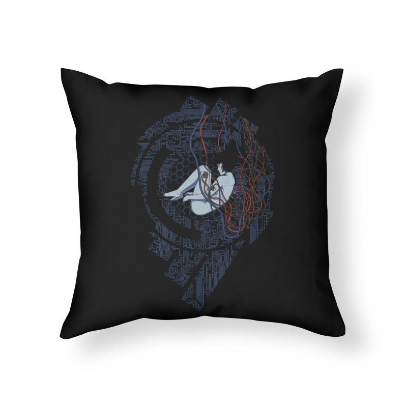 Wired Existence Home Throw Pillow by Pigboom's Artist Shop