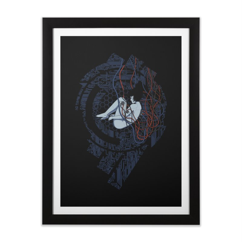 Wired Existence Home Framed Fine Art Print by Pigboom's Artist Shop