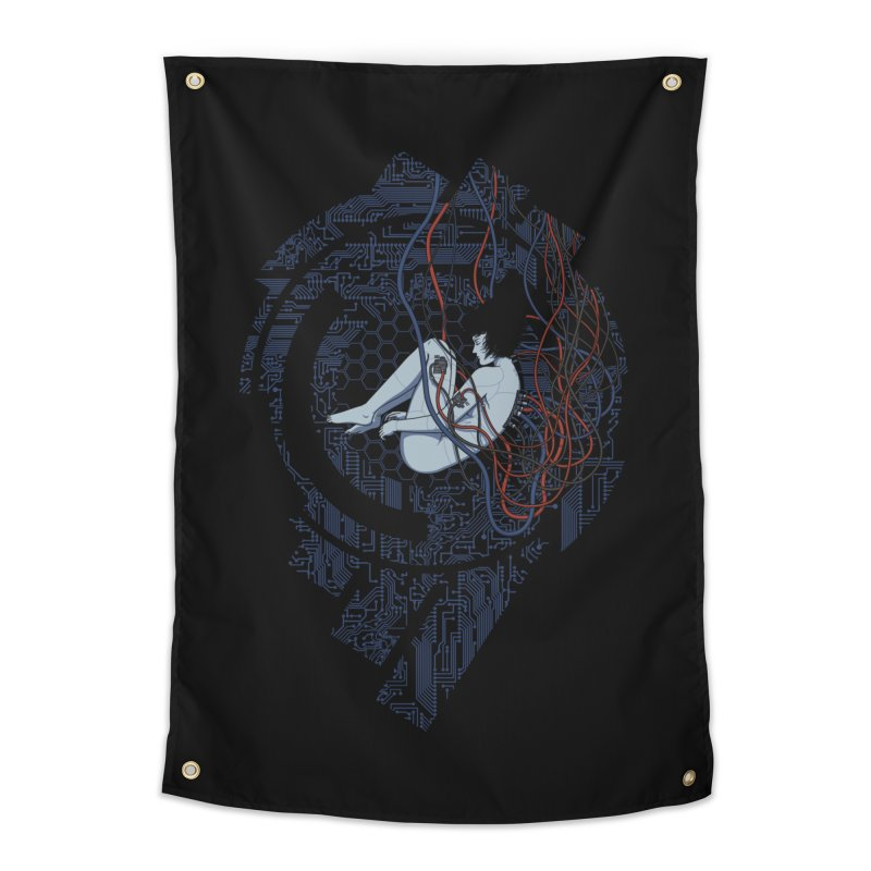 Wired Existence Home Tapestry by Pigboom's Artist Shop