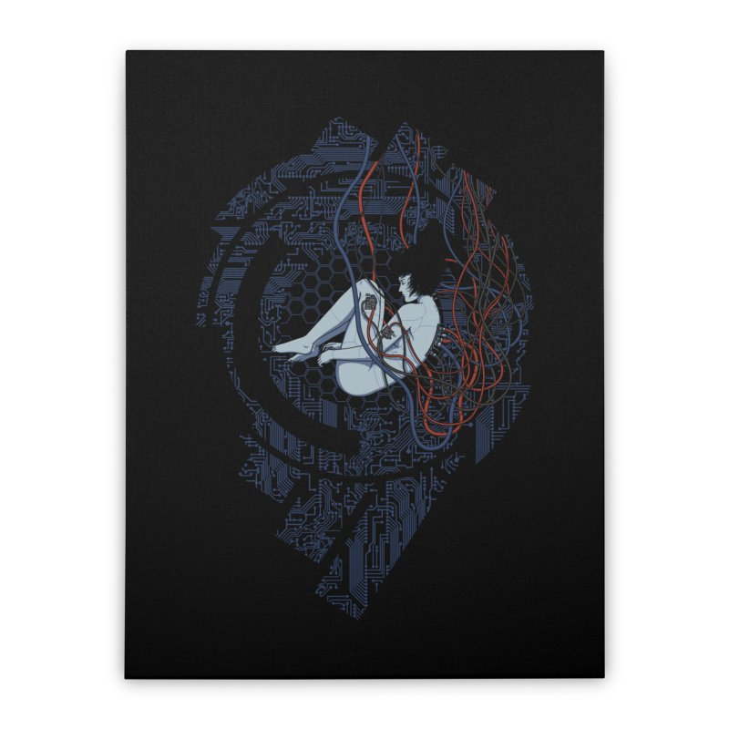 Wired Existence Home Stretched Canvas by Pigboom's Artist Shop