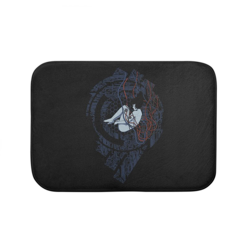 Wired Existence Home Bath Mat by Pigboom's Artist Shop