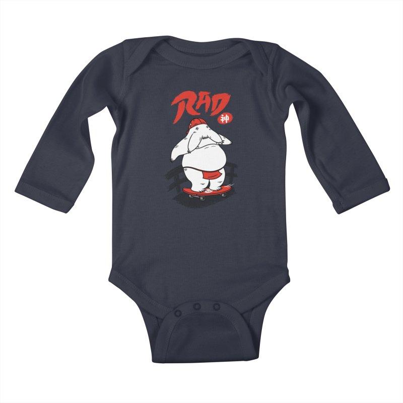 Rad Spirit Kids Baby Longsleeve Bodysuit by Pigboom's Artist Shop