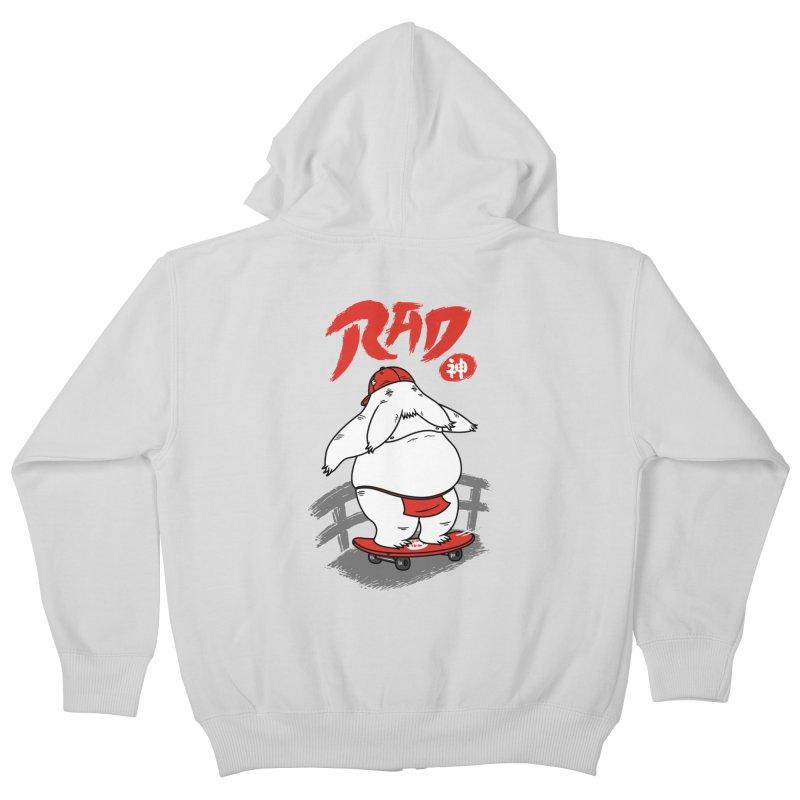 Rad Spirit Kids Zip-Up Hoody by Pigboom's Artist Shop