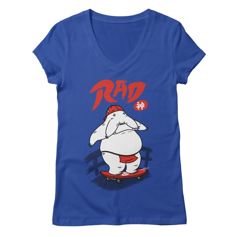 Rad Spirit Women's V-Neck by Pigboom's Artist Shop