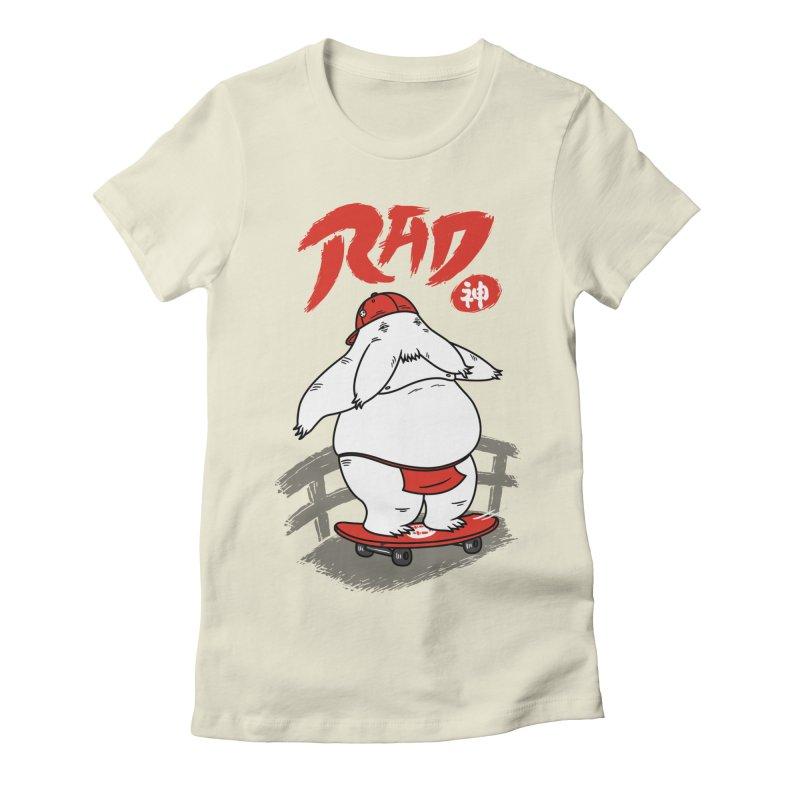 Rad Spirit Women's Fitted T-Shirt by Pigboom's Artist Shop