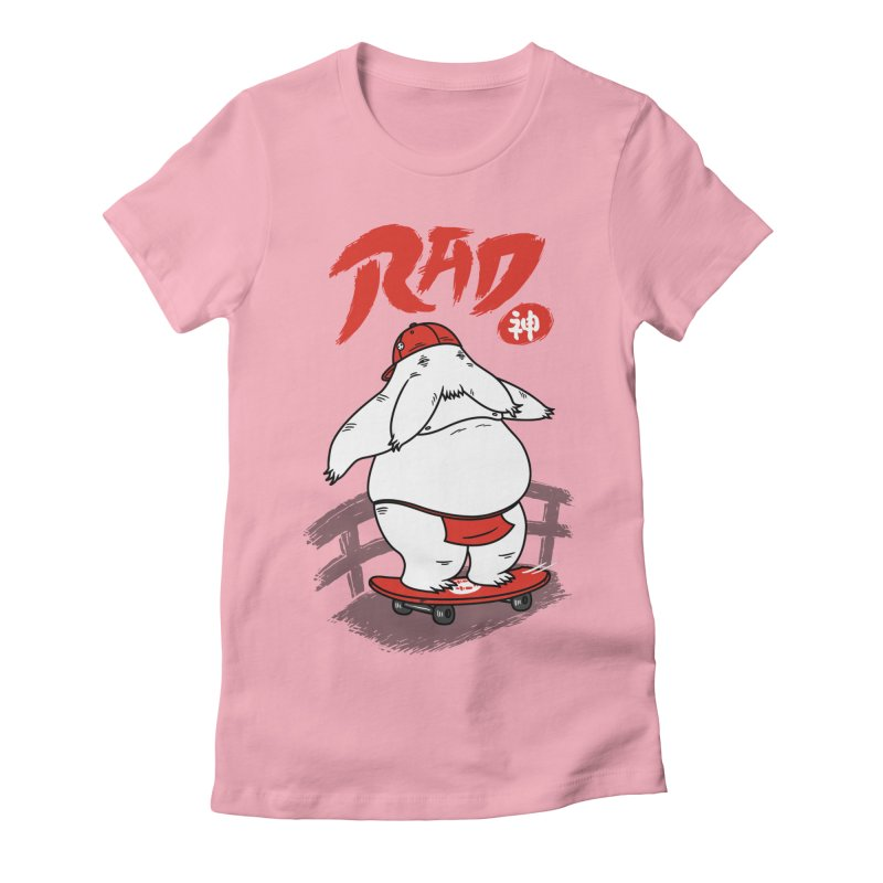 Rad Spirit Women's Fitted T-Shirt by Pigboom's Artist Shop