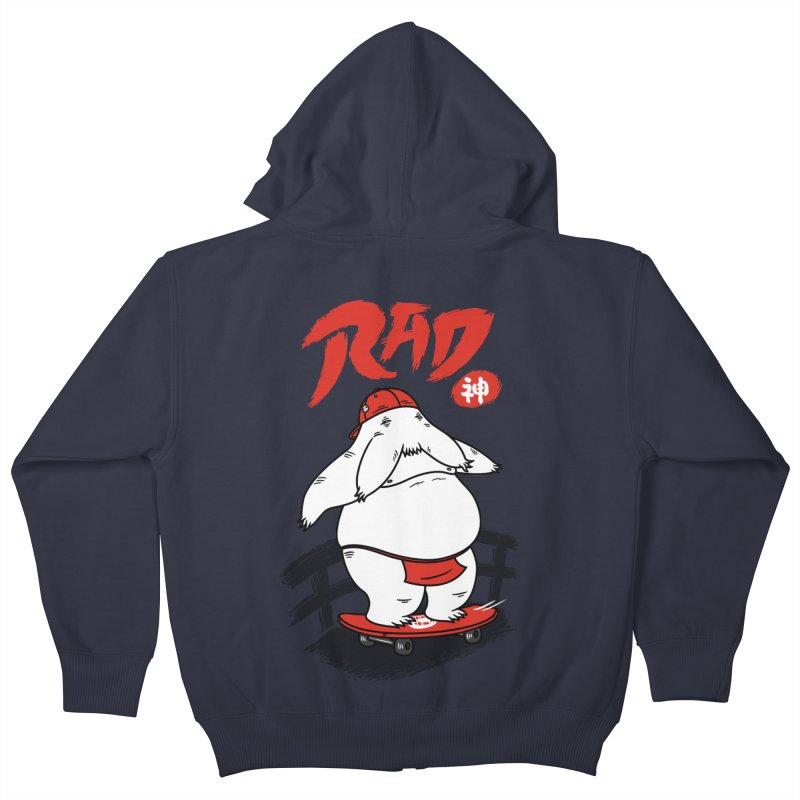 Rad Spirit Kids Zip-Up Hoody by Pigboom's Artist Shop