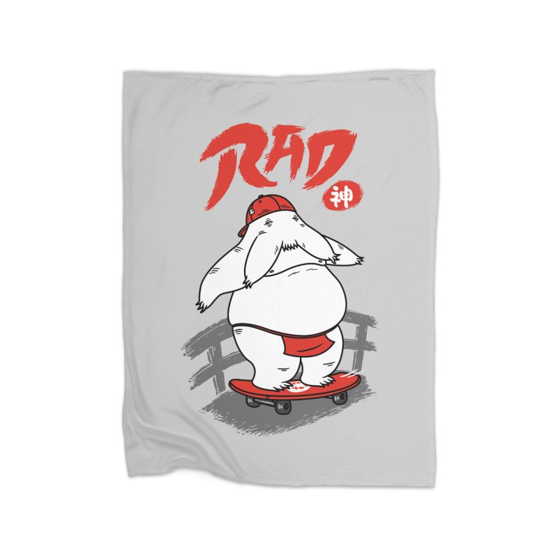 Rad Spirit Home Fleece Blanket by Pigboom's Artist Shop