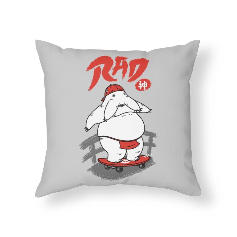 Rad Spirit Home Throw Pillow by Pigboom's Artist Shop