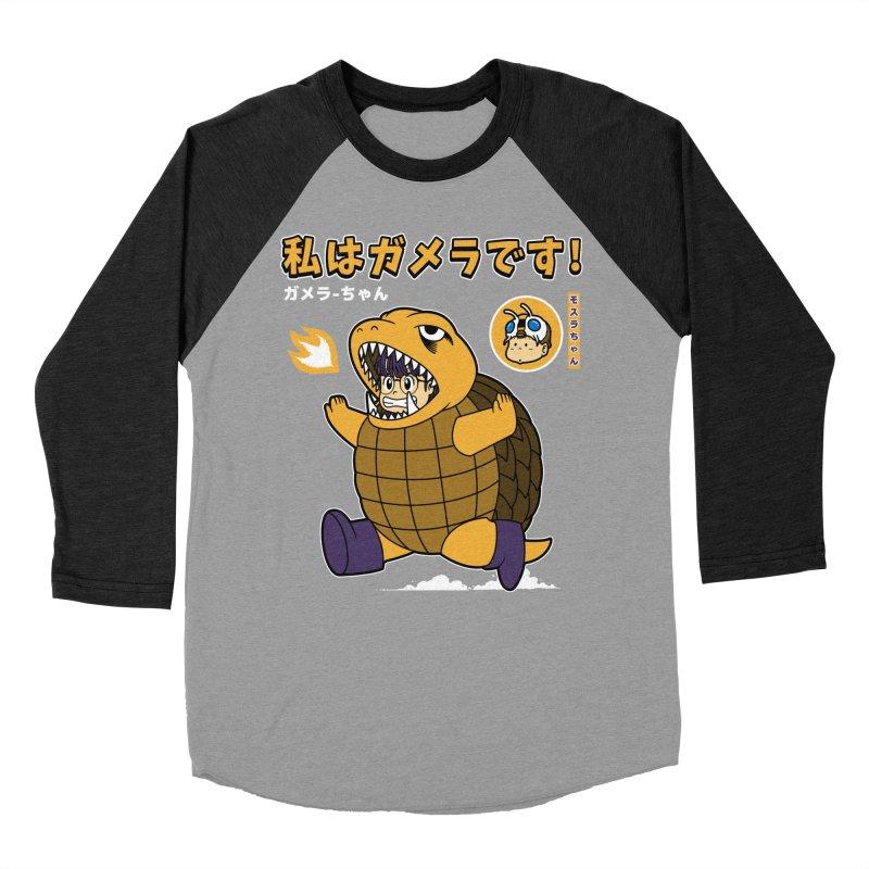 Kaiju Play Women's Baseball Triblend T-Shirt by Pigboom's Artist Shop