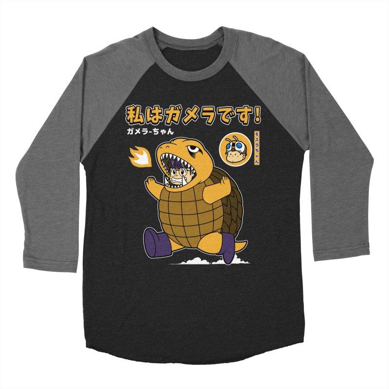 Kaiju Play Men's Baseball Triblend T-Shirt by Pigboom's Artist Shop