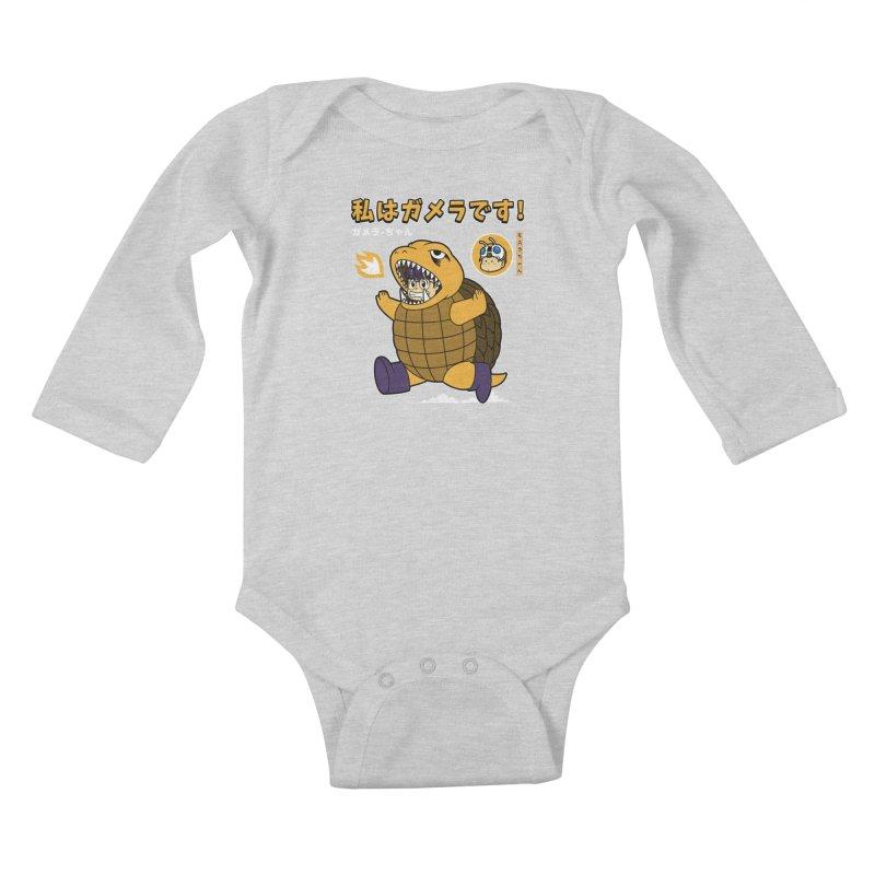 Kaiju Play Kids Baby Longsleeve Bodysuit by Pigboom's Artist Shop