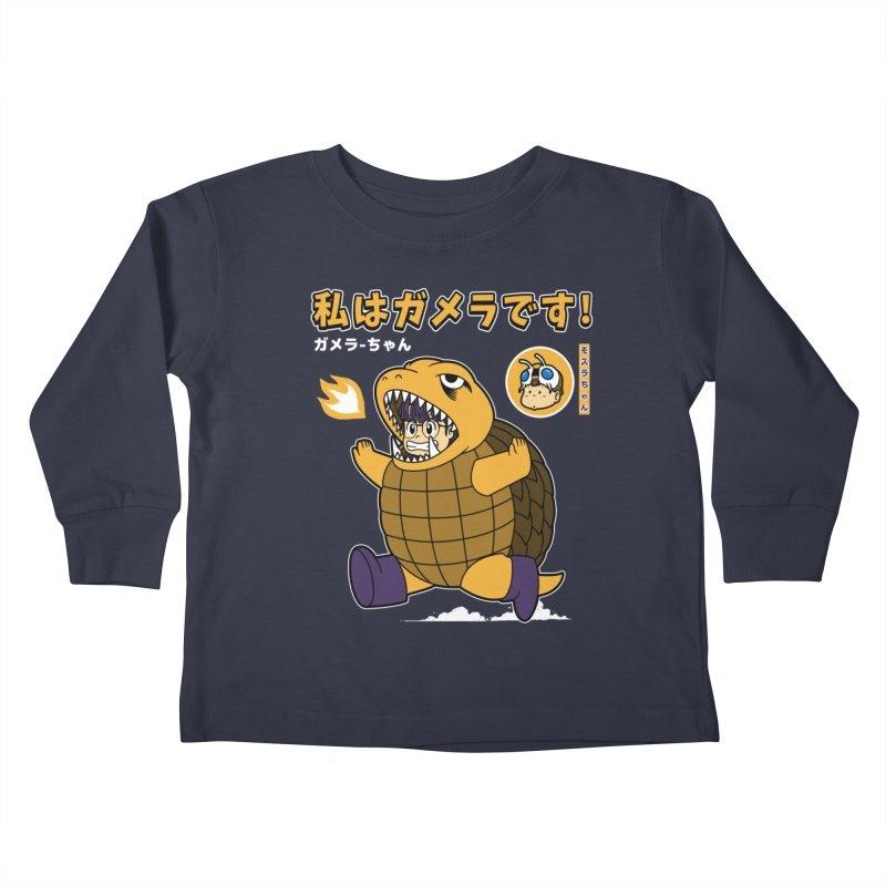 Kaiju Play Kids Toddler Longsleeve T-Shirt by Pigboom's Artist Shop