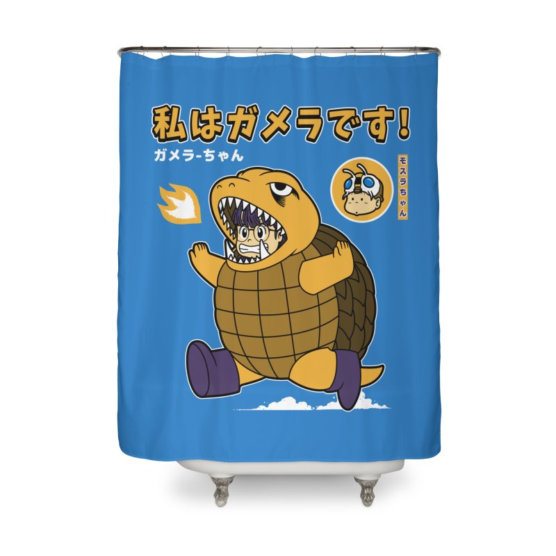 Kaiju Play Home Shower Curtain by Pigboom's Artist Shop