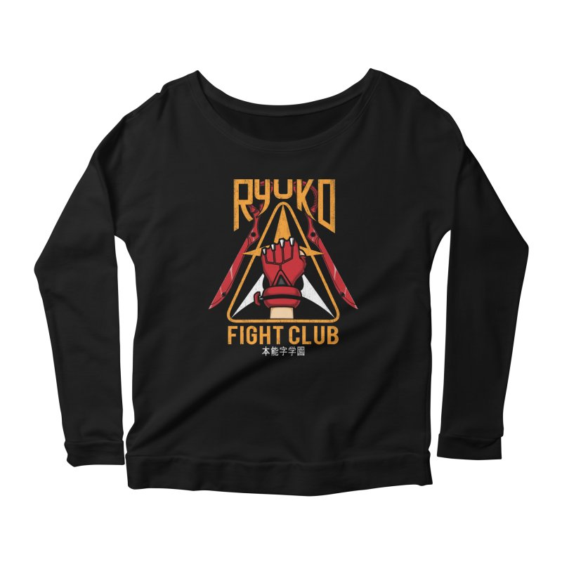 Honnouji Academy Fight Club Women's Longsleeve Scoopneck  by Pigboom's Artist Shop