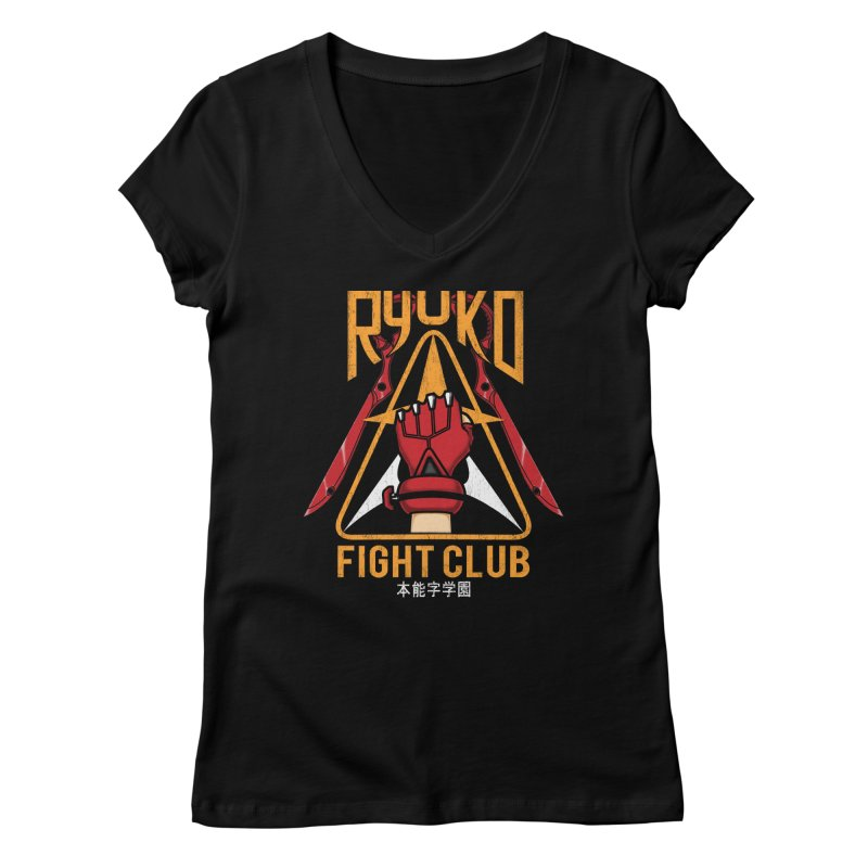 Honnouji Academy Fight Club Women's V-Neck by Pigboom's Artist Shop