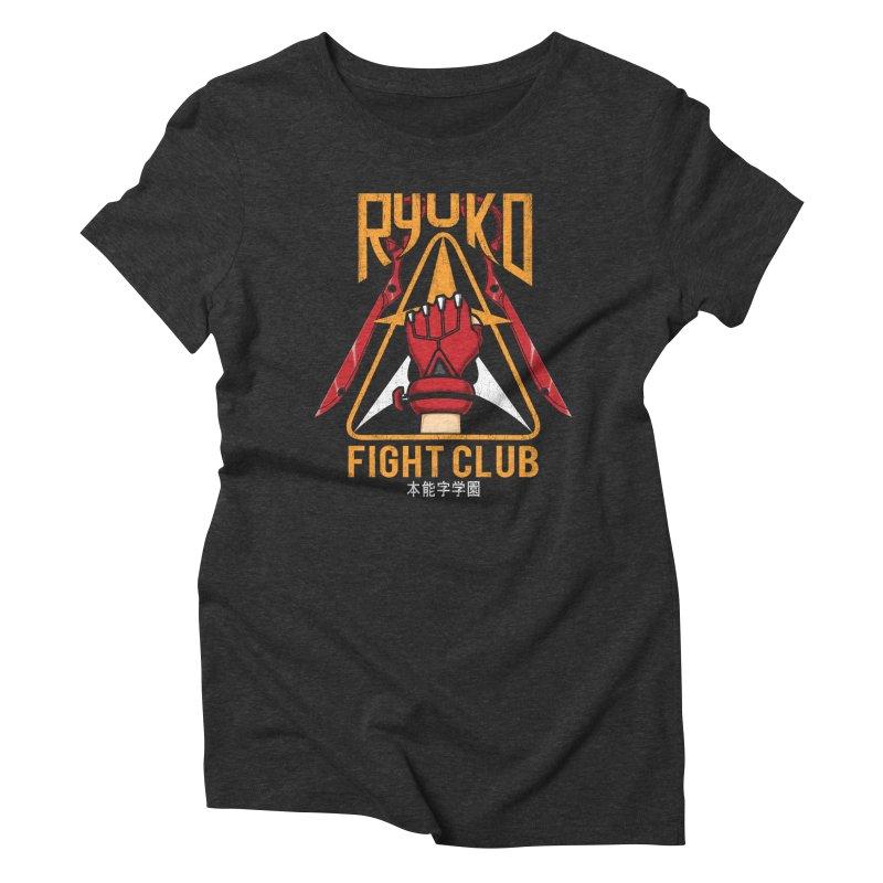 Honnouji Academy Fight Club Women's Triblend T-shirt by Pigboom's Artist Shop