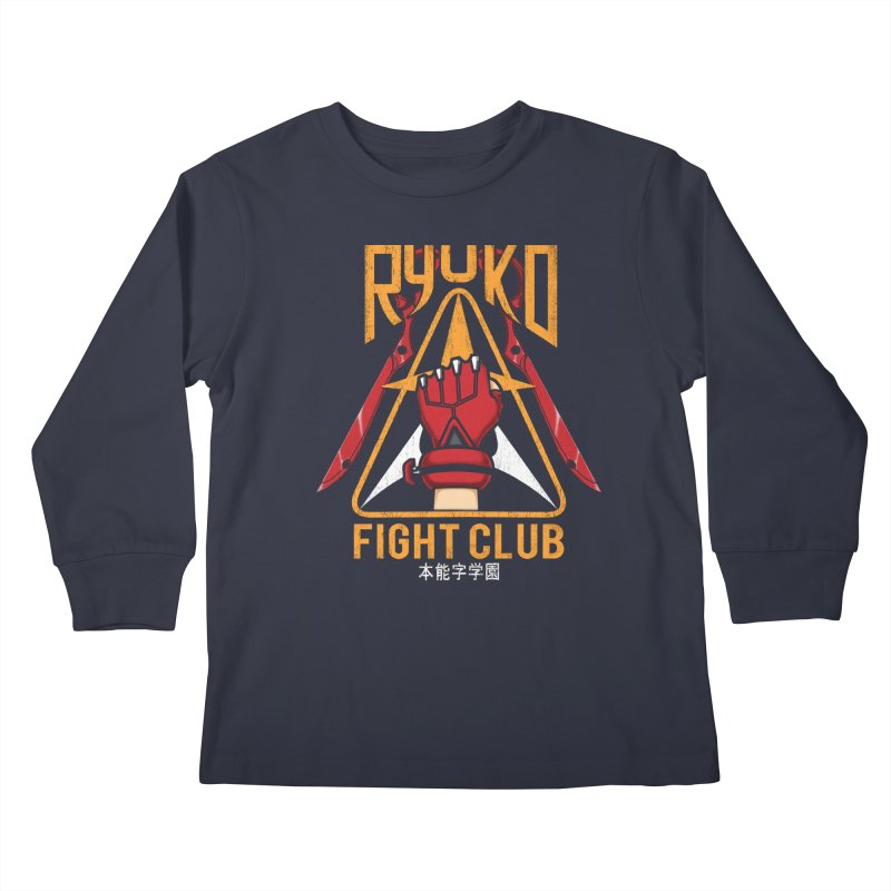 Honnouji Academy Fight Club Kids Longsleeve T-Shirt by Pigboom's Artist Shop