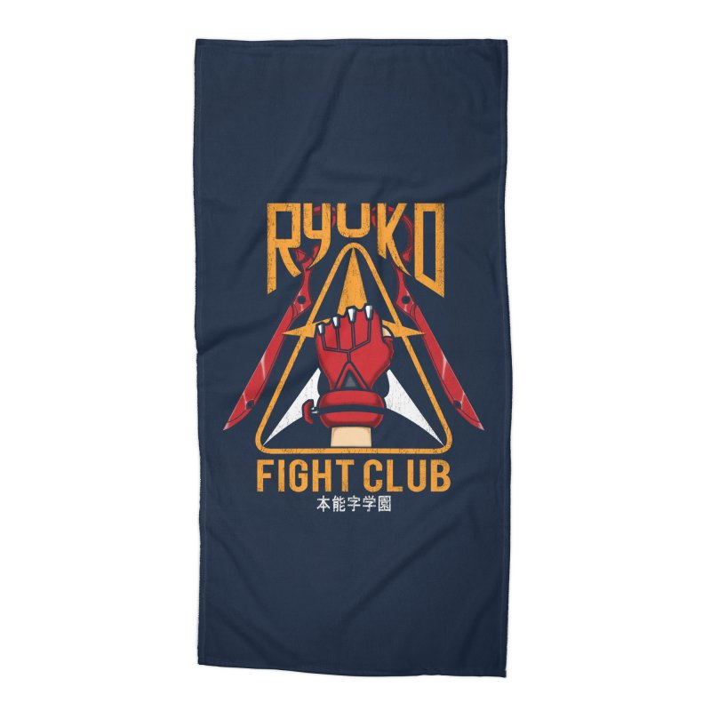 Honnouji Academy Fight Club Accessories Beach Towel by Pigboom's Artist Shop