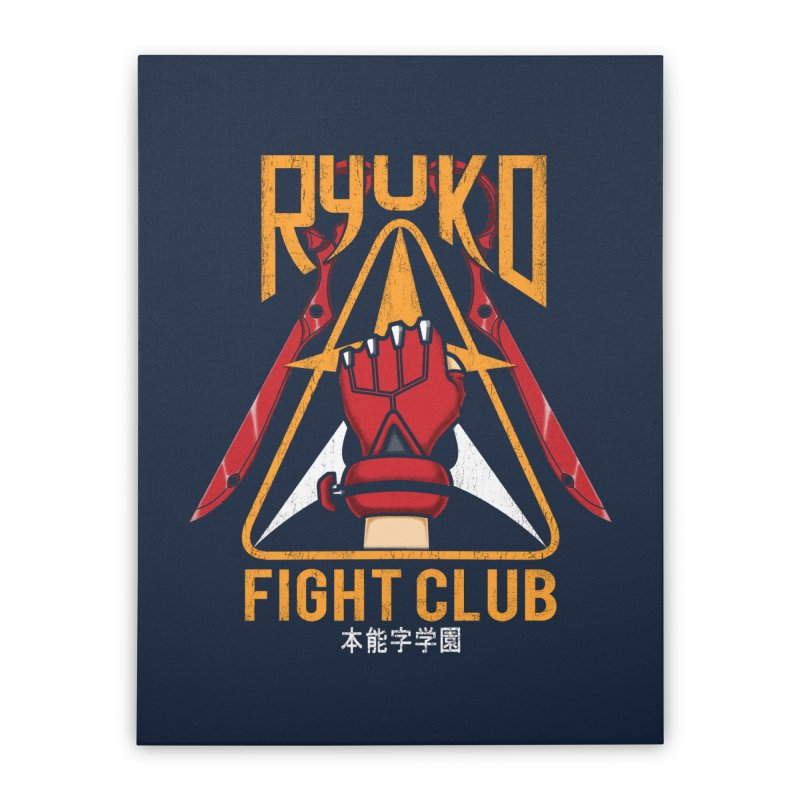 Honnouji Academy Fight Club Home Stretched Canvas by Pigboom's Artist Shop