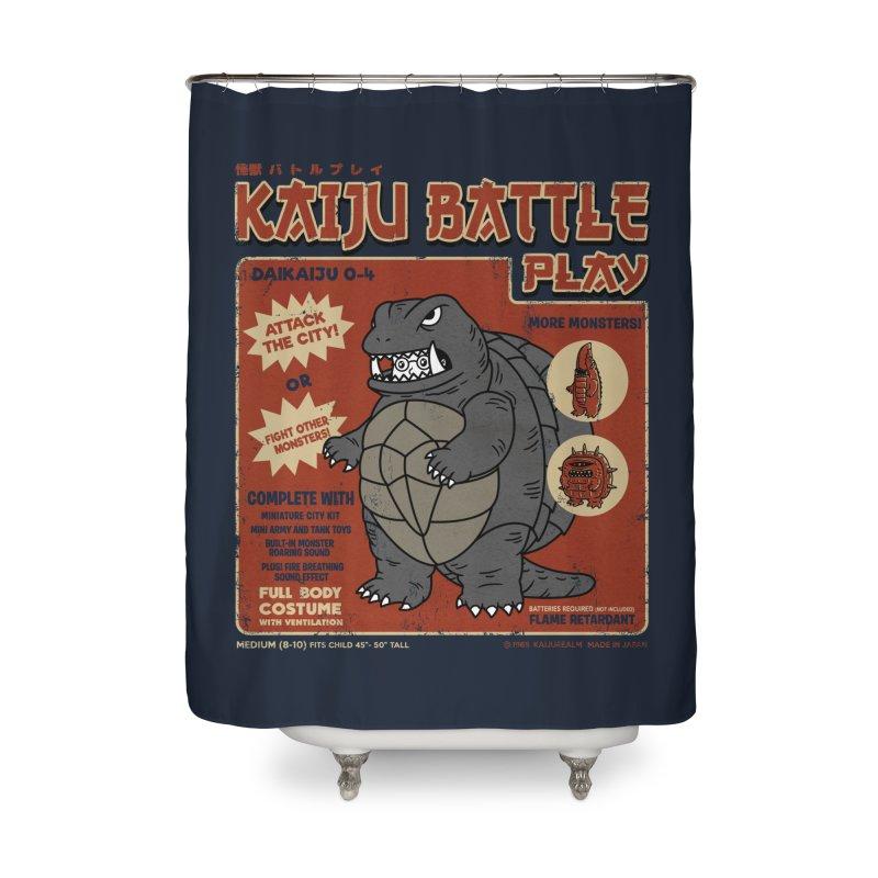 Kaiju Battle Player 04 Home Shower Curtain by Pigboom's Artist Shop