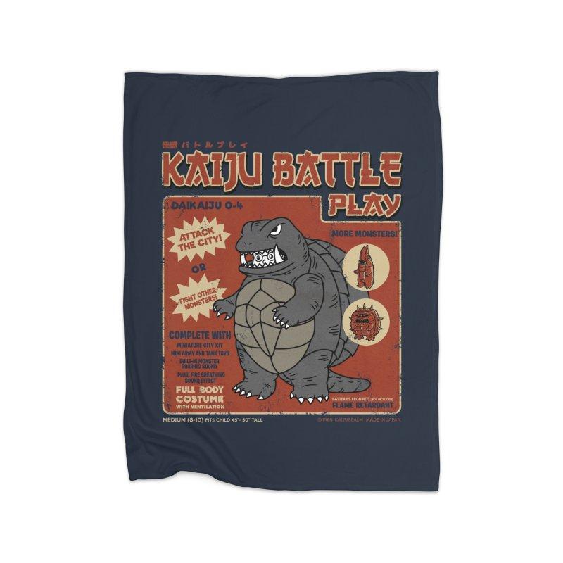 Kaiju Battle Player 04 Home Blanket by Pigboom's Artist Shop