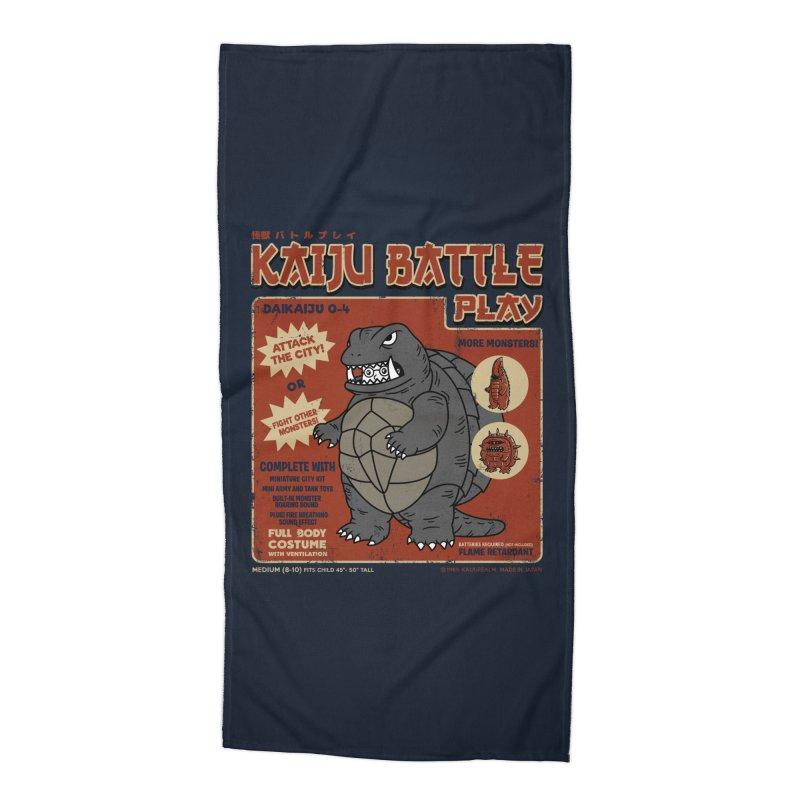Kaiju Battle Player 04 Accessories Beach Towel by Pigboom's Artist Shop