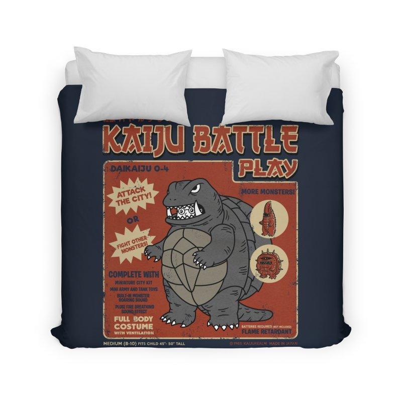 Kaiju Battle Player 04 Home Duvet by Pigboom's Artist Shop