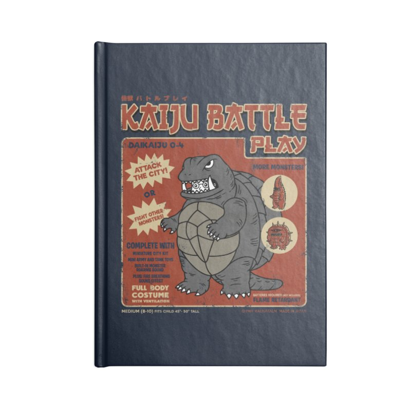 Kaiju Battle Player 04 Accessories Notebook by Pigboom's Artist Shop