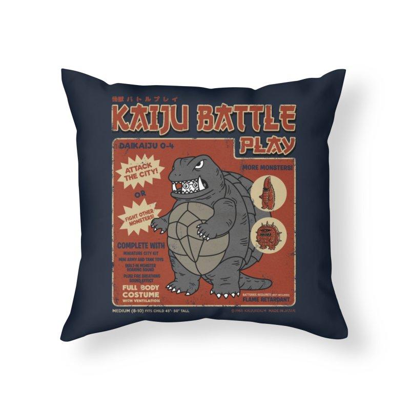 Kaiju Battle Player 04 Home Throw Pillow by Pigboom's Artist Shop